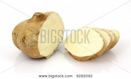 Jicama Root Cut And Sliced