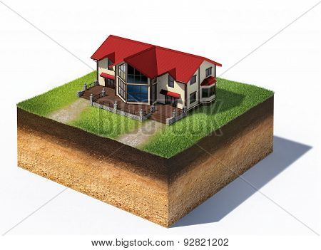 Residential House On Piece Of Land