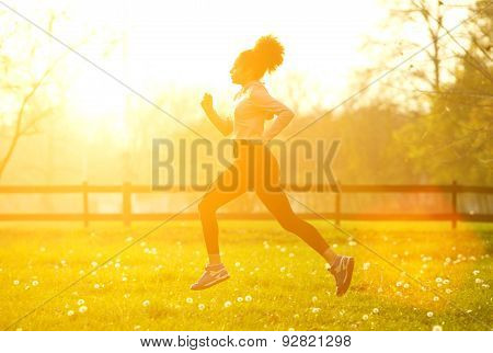 Exercise Woman Running Outdoors