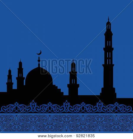 mosques silhouette