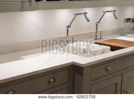 Funky Faucet Kitchen