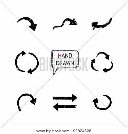 Hand Drawn arrows set.Part VI