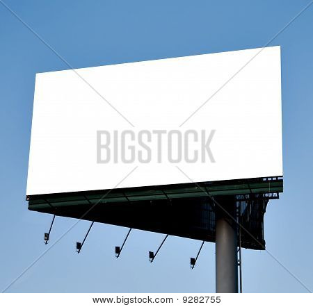 Blank Billboard Over Blue Sky