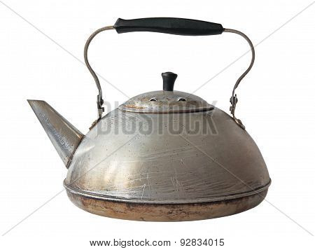 Old Aluminum Kettle.isolated.