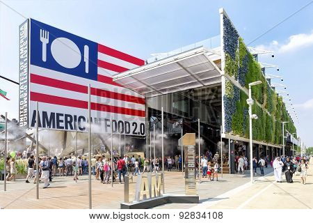Usa Pavilion Exterior At Expo 2015 in Milan, Italy