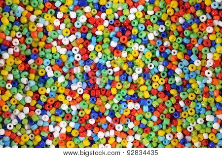 Colorful Seed Beads Background