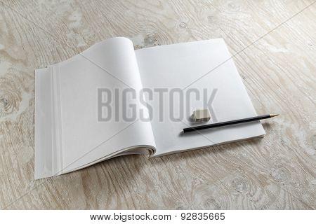 Blank Opened Diary