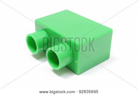 Green Building Block On White Background