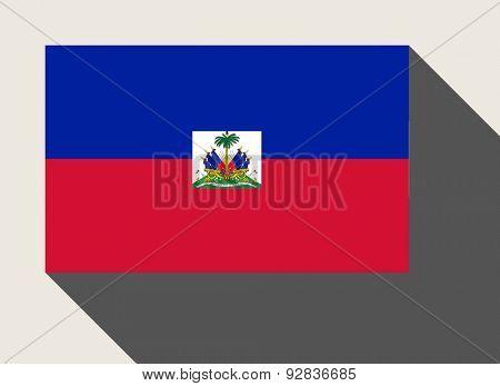 Haiti flag in flat web design style.