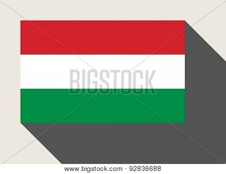 Hungary flag in flat web design style.