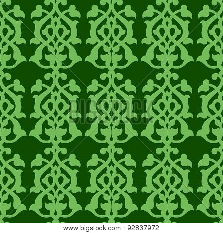 Arabian pattern on green background