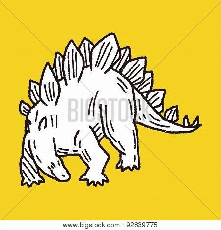 Stegosaurus Dinosaur Doodle