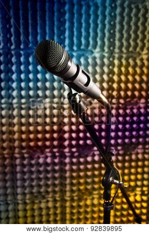 Modern Microphone In The Recording Studio