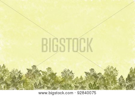 Vegetation background with trees and leaves