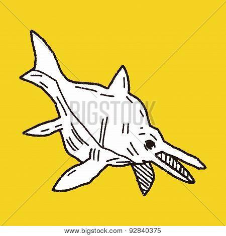 Fish Dinosaur Doodle