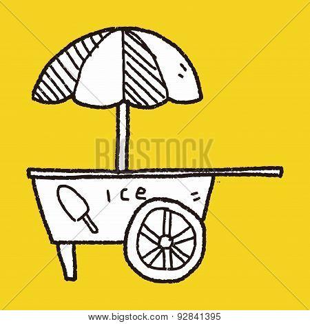 Ice Cream Store Doodle