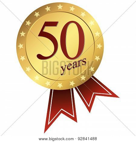 Gold Jubilee Button - 50 Years