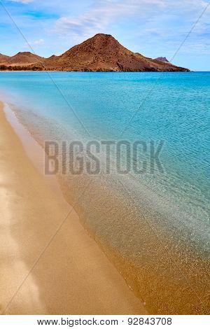 Almeria Playa de los Genoveses beach in Cabo de Gata Spain
