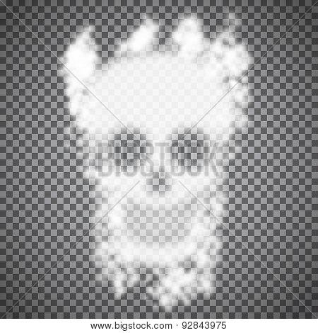 Vector Smoke Skull