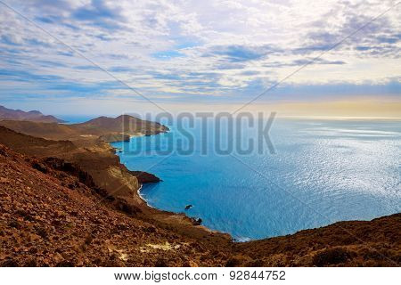 Cabo de Gata Almeria Levante east aerial view in Spain