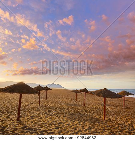 Almeria Cabo de Gata San Miguel beach shore in Spain