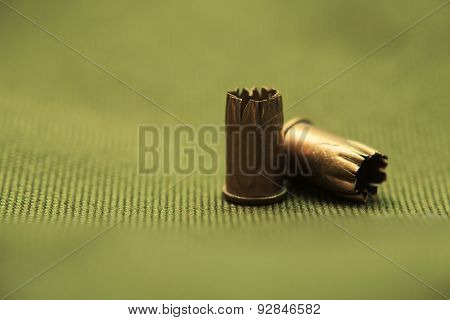Bullet Casings On Textile