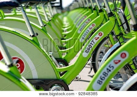 Budapest, Hungary - June 01 2014:new Budapest Bike Hire Called