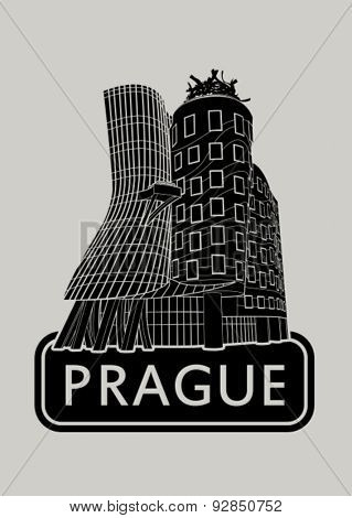 Prague Dancing House Icon