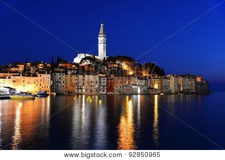 Old Town Of Rovinj On Istrian Peninsula, Croatia