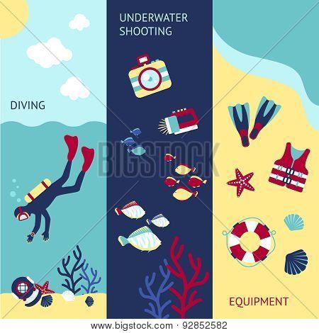 Diving Banner Set
