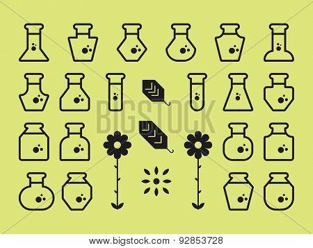 Flat Alchemy Icons