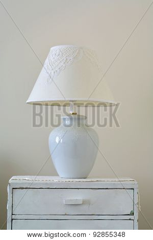 Classic lamp on dresser