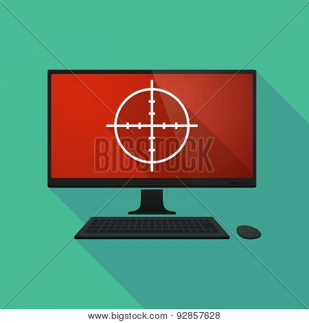 Personal Computer With A Crosshair
