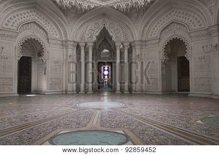 White Room Inside The Sammezzano Castle In Italy