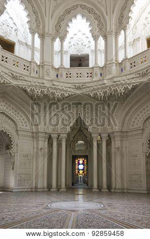 White Room In Sammezzano Castle In Italy, In Moroccan style