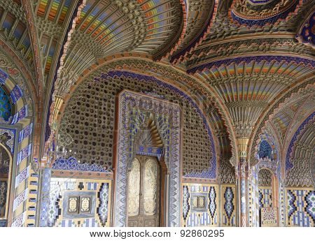 Peacock Room In Sammezzano Castle In Italy