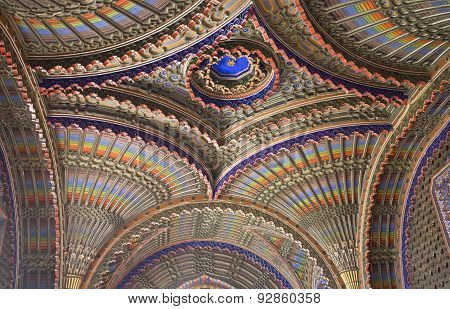 Close Up Of a Magnificent multicolored Ceiling