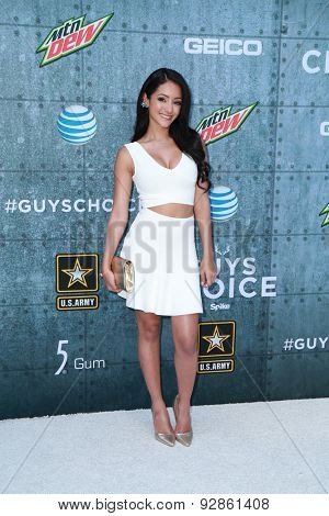 LOS ANGELES - JUN 6:  Melanie Iglesias at the Guys Choice Awards 2015 at the Culver City on June 6, 2015 in Sony Studios, CA