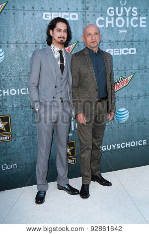LOS ANGELES - JUN 6:  Sir Ben Kingsley, Avan Jogia at the Guys Choice Awards 2015 at the Culver City on June 6, 2015 in Sony Studios, CA