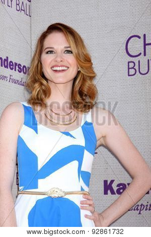 LOS ANGELES - JUN 6:  Sarah Drew at the 14th Annual Chrysalis Butterfly Ball at the Private Residence on June 6, 2015 in Los Angeles, CA