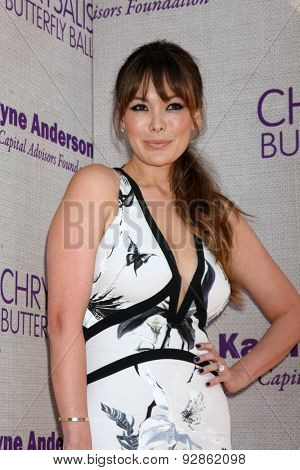 LOS ANGELES - JUN 6:  Lindsay Price at the 14th Annual Chrysalis Butterfly Ball at the Private Residence on June 6, 2015 in Los Angeles, CA