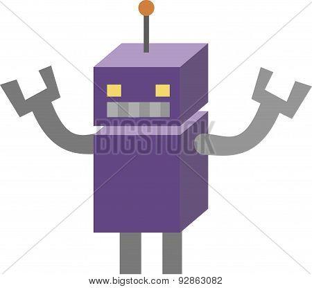 Vector Illustration Of Vintage Robot.