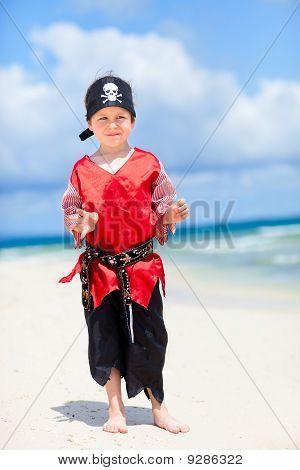 Cute Pirate On Beach