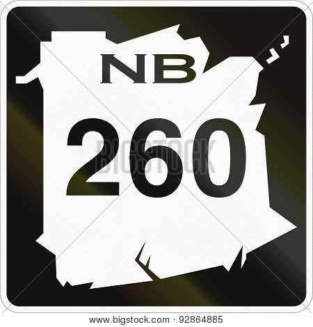 New Brunswick Highway Marker 260