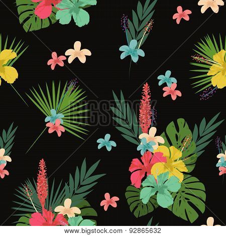 Flower pattern, tablecloth background
