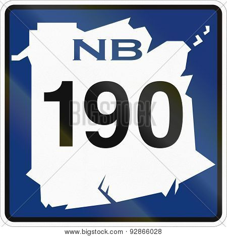 New Brunswick Highway Marker 190