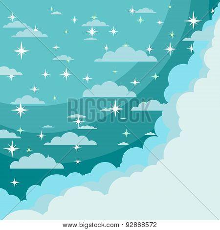Vector night sky