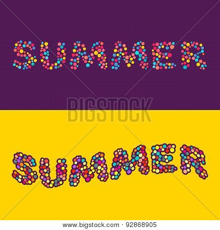 Summer Card Of Multi Colored Little Balls