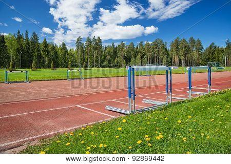 Athletics Sport Field On A Sunny Summer Day