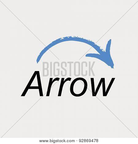 Arrow icon logo. Vector emblem web symbol